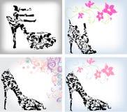 Zapatos de la manera fijados Imagen de archivo libre de regalías