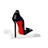 Zapatos de la moda de la acuarela Fotos de archivo