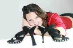 Zapatos de la muchacha imagenes de archivo