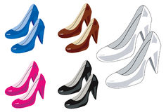 Zapatos de la mujer stock de ilustración