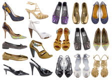 Zapatos de la mujer imágenes de archivo libres de regalías
