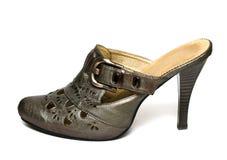 Zapatos de la mujer aislados Imágenes de archivo libres de regalías