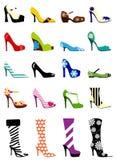 Zapatos de la mujer de la manera Foto de archivo libre de regalías