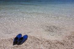 Zapatos de la natación imagen de archivo libre de regalías