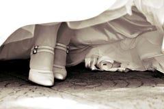 Zapatos de la novia Fotos de archivo libres de regalías