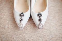 Zapatos de la novia imágenes de archivo libres de regalías