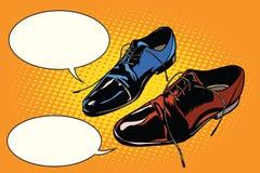 Zapatos de la obra clásica de la reunión de negocios libre illustration