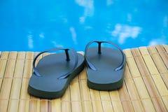 Zapatos de la piscina Imagen de archivo libre de regalías