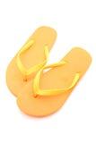 Zapatos de la playa aislados Imagenes de archivo
