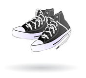 Zapatos de la zapatilla de deporte aislados Imagen de archivo