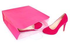 Zapatos de las compras aislados Imagen de archivo