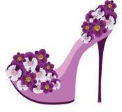 Zapatos de las flores. Imagenes de archivo