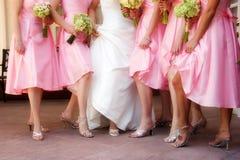Zapatos de las muchachas Foto de archivo