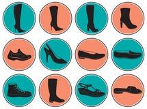 Zapatos de las mujeres Fotografía de archivo