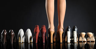 Zapatos de las mujeres Imagen de archivo