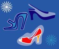Zapatos de las mujeres. Fotos de archivo