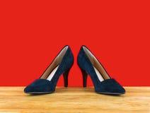 Zapatos de las mujeres elegantes imagenes de archivo