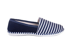 Zapatos de las rayas azules Imagen de archivo libre de regalías