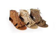 Zapatos de las sandalias del gladiador Foto de archivo
