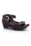 Zapatos de las sandalias del verano en blanco Imagenes de archivo