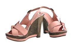 Zapatos de las señoras Foto de archivo libre de regalías