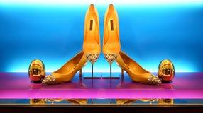Zapatos de las señoras Fotos de archivo libres de regalías