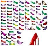 Zapatos de las siluetas Imágenes de archivo libres de regalías
