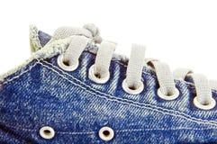Zapatos de lona de Jean Foto de archivo libre de regalías