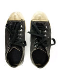 Zapatos de lona negros Fotografía de archivo libre de regalías