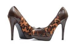 Zapatos de los altos talones Fotografía de archivo libre de regalías