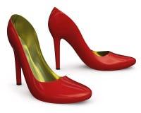 Zapatos de los altos talones con los diamantes Imagenes de archivo