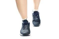 Zapatos de los deportes de las mujeres Fotografía de archivo