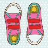 Zapatos de los deportes para una muchacha Fotos de archivo libres de regalías