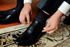 Zapatos de los hombres Fotografía de archivo