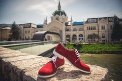 Zapatos de los hombres Foto de archivo