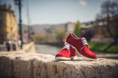 Zapatos de los hombres Imagen de archivo