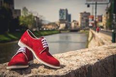 Zapatos de los hombres Fotos de archivo libres de regalías