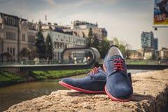 Zapatos de los hombres Imagen de archivo libre de regalías