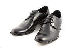 Zapatos de los hombres de Blask Foto de archivo
