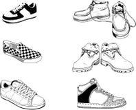 Zapatos de los hombres de la calle Foto de archivo libre de regalías