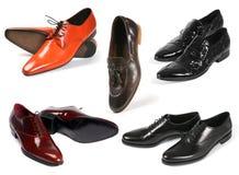 Zapatos de los hombres fijados Imágenes de archivo libres de regalías