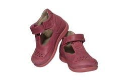 Zapatos de los niños aislados imágenes de archivo libres de regalías