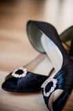 Zapatos de lujo de la boda Imagenes de archivo