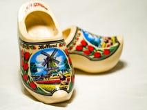 Zapatos de madera Imágenes de archivo libres de regalías