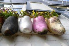 Zapatos de madera Fotos de archivo
