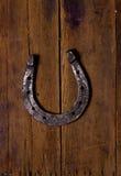 Zapatos de madera del fondo y del caballo Fotos de archivo libres de regalías