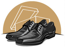 Zapatos de Menâs Fotografía de archivo