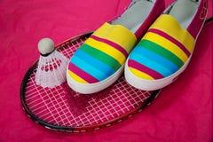 Zapatos de moda, brillantes, fáciles de los deportes (zapatos de gimnasio) Imágenes de archivo libres de regalías