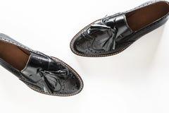 Zapatos de moda negros femeninos Foto de archivo libre de regalías