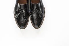 Zapatos de moda negros femeninos Imagen de archivo